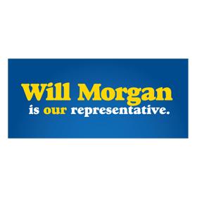 Suburban state legislator campaign. Branding designed to heighten sense of local pride.